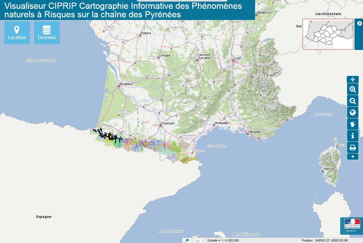 Cartographie Informative des Phénomènes à RIsques sur la chaîne des Pyrénées (CIPRIP)